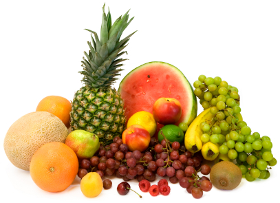 This is a display of tropical fruits