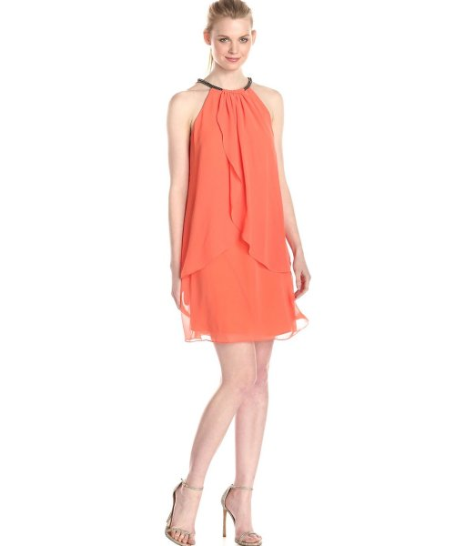 Cheap-orange-summer-dresses-S.L.-Fashions