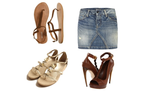 Sandals-and-Denim-Skirt-Outfit-Combination