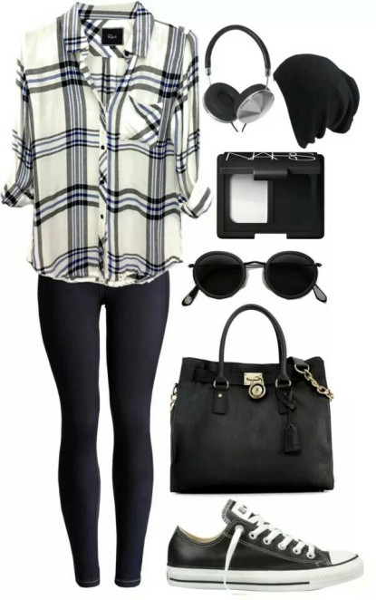 beanie-black-and-white-casual-checkered-Favim.com-3083373